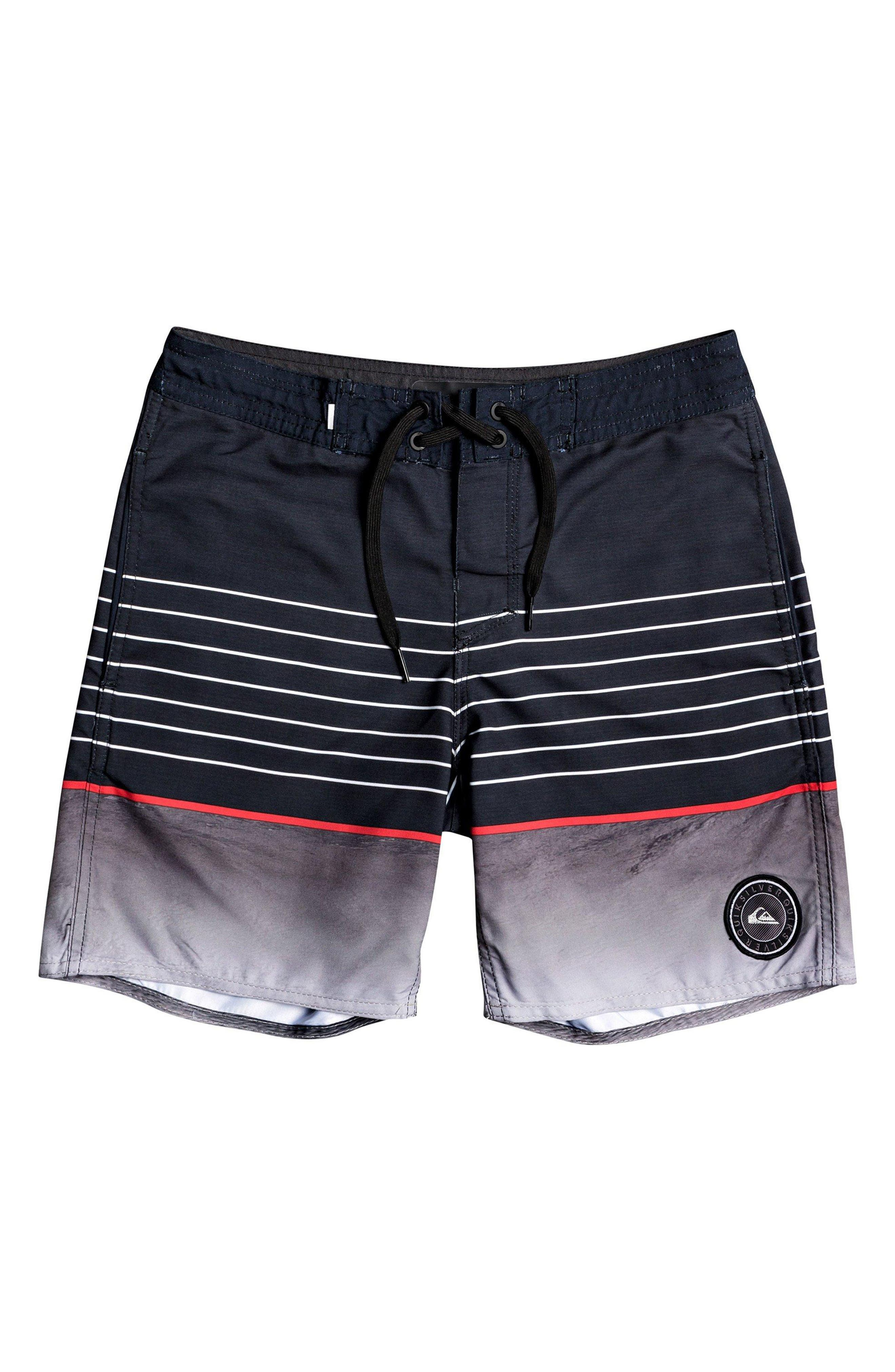 Boys Quiksilver Swell Vision Board Shorts Size 26  Black