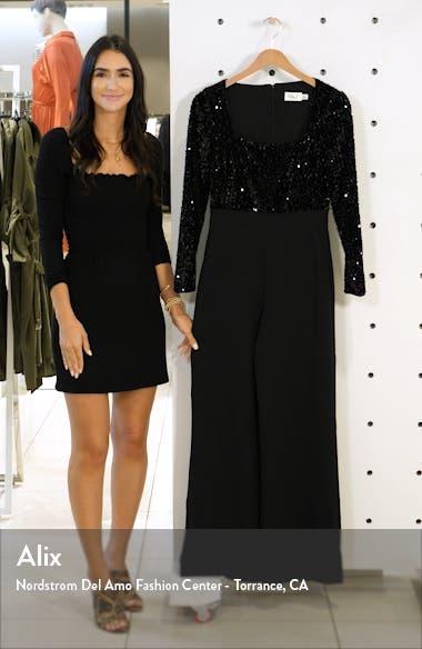 Sequin Long Sleeve Jumpsuit, sales video thumbnail