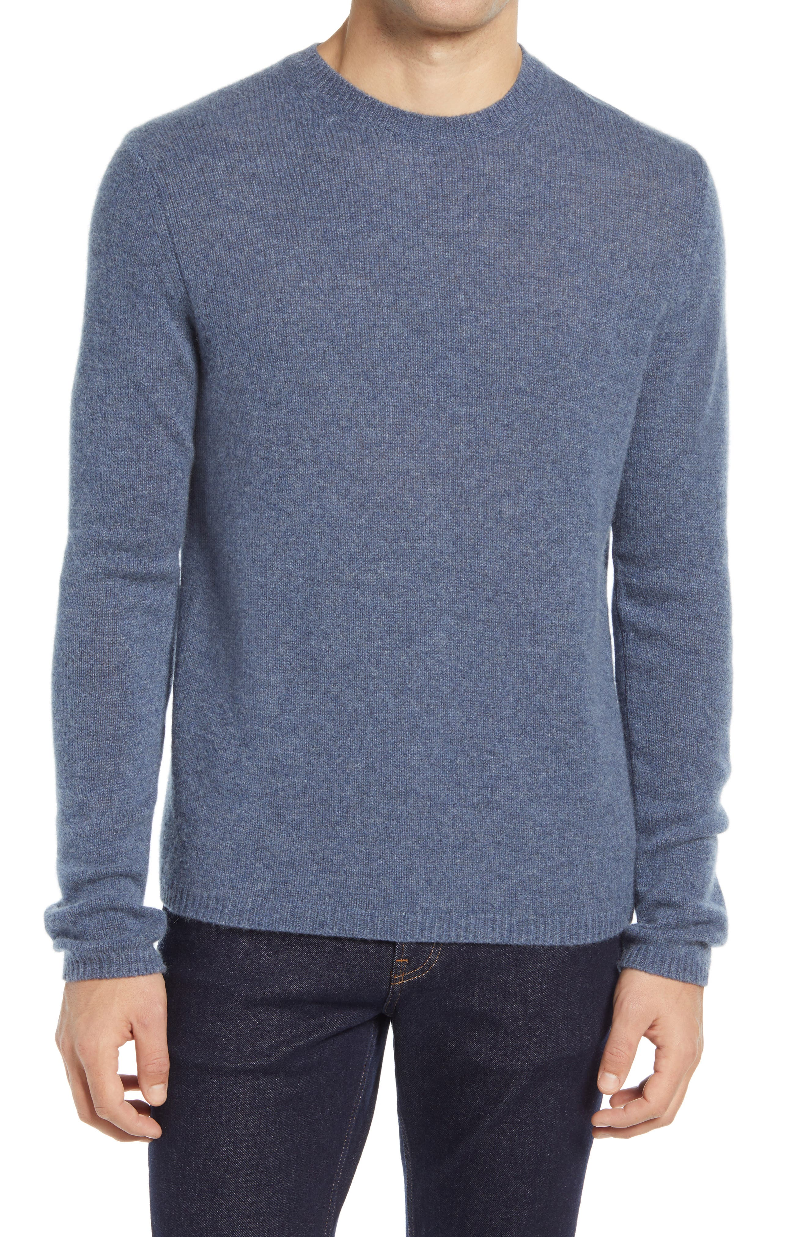 Soft, breathable cashmere furthers the easy-to-wear appeal of a sweater knit with a relaxed fit for layering or wearing on its own. Style Name: Vince Men\\\'S Crewneck Cashmere Sweater. Style Number: 6146893 2. Available in stores.