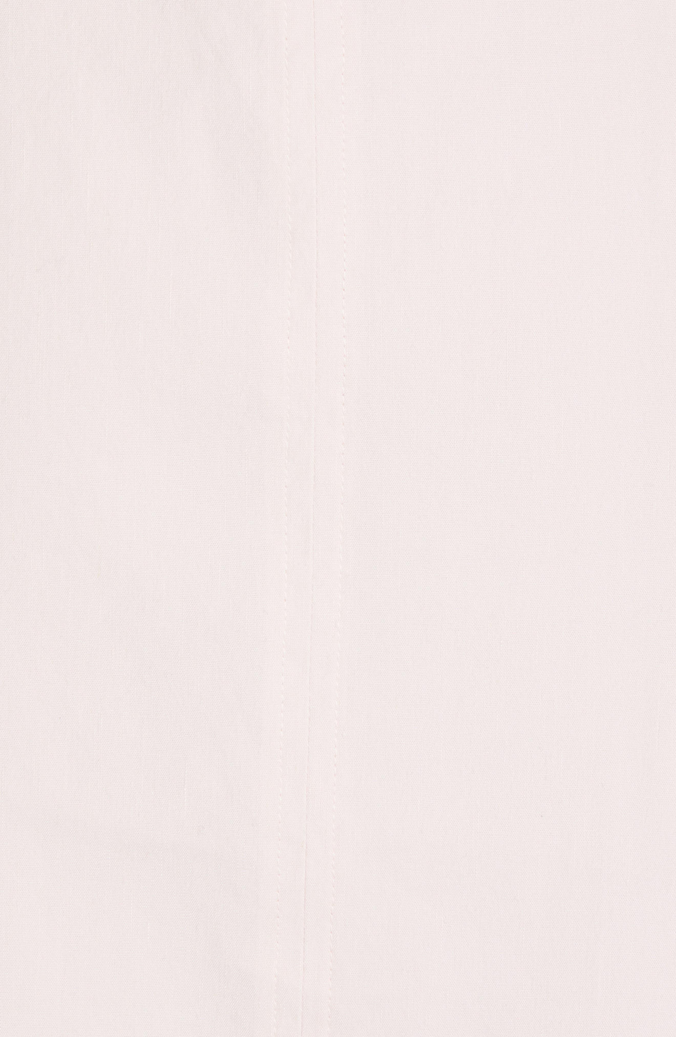 ,                             Wide Strap Belted Linen Blend Dress,                             Alternate thumbnail 6, color,                             ROSA SECO