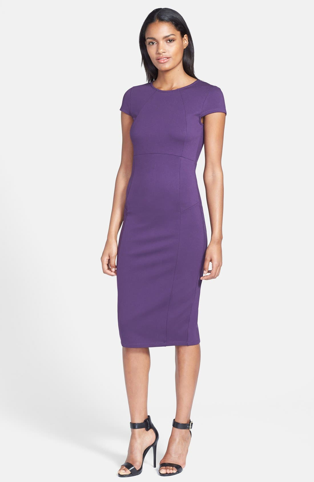 ,                             Ward Seamed Pencil Dress,                             Main thumbnail 45, color,                             506