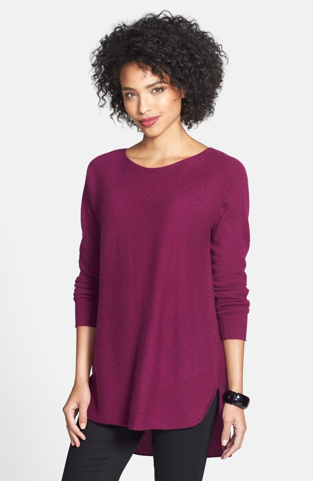 ,                             High/Low Cashmere Tunic Sweater,                             Main thumbnail 17, color,                             501
