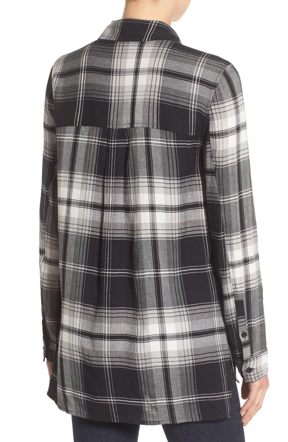 ,                             Plaid Tunic Shirt,                             Alternate thumbnail 3, color,                             001