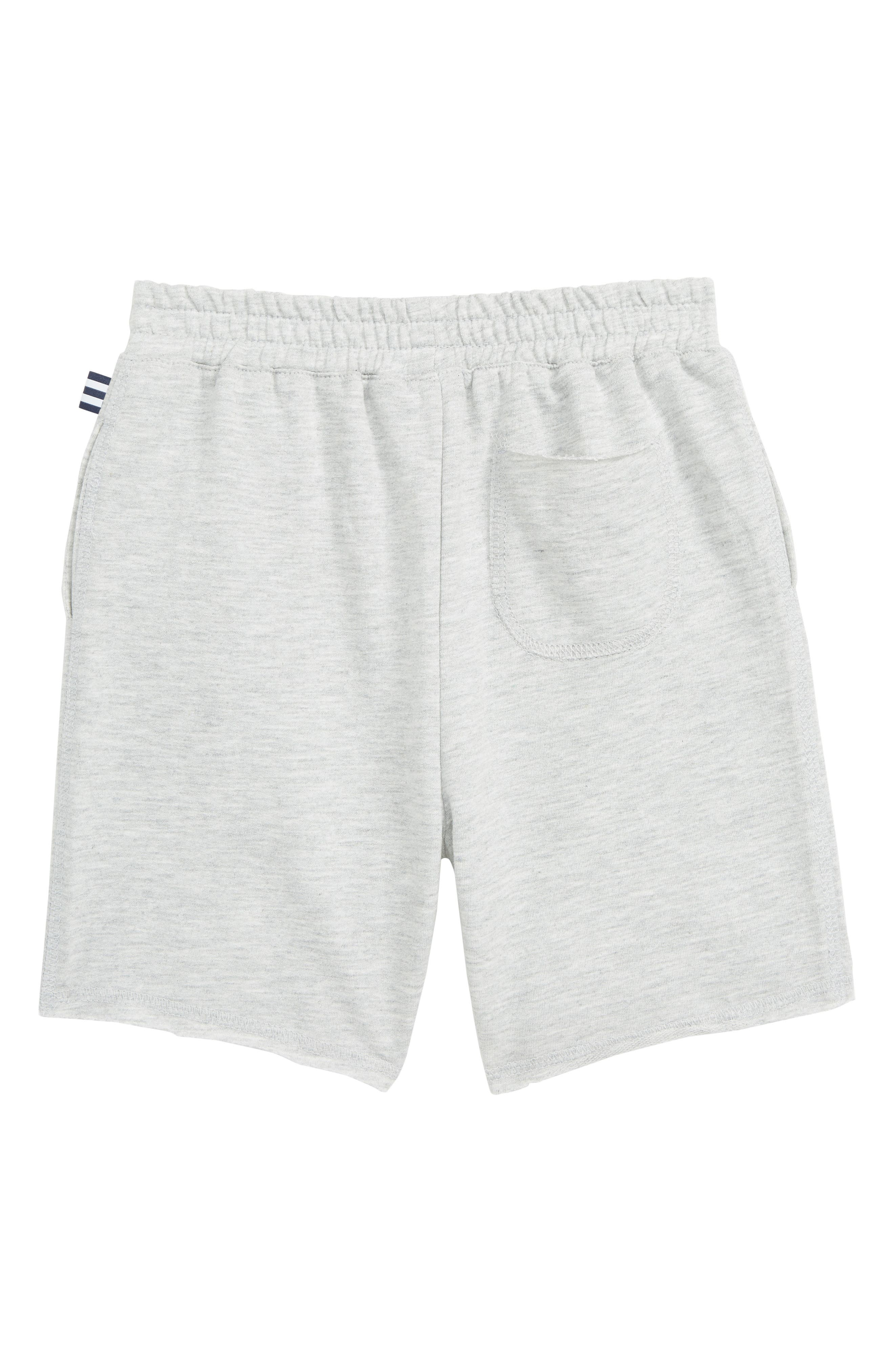 ,                             Stripe French Terry Shorts,                             Alternate thumbnail 2, color,                             LIGHT GREY HEATHER