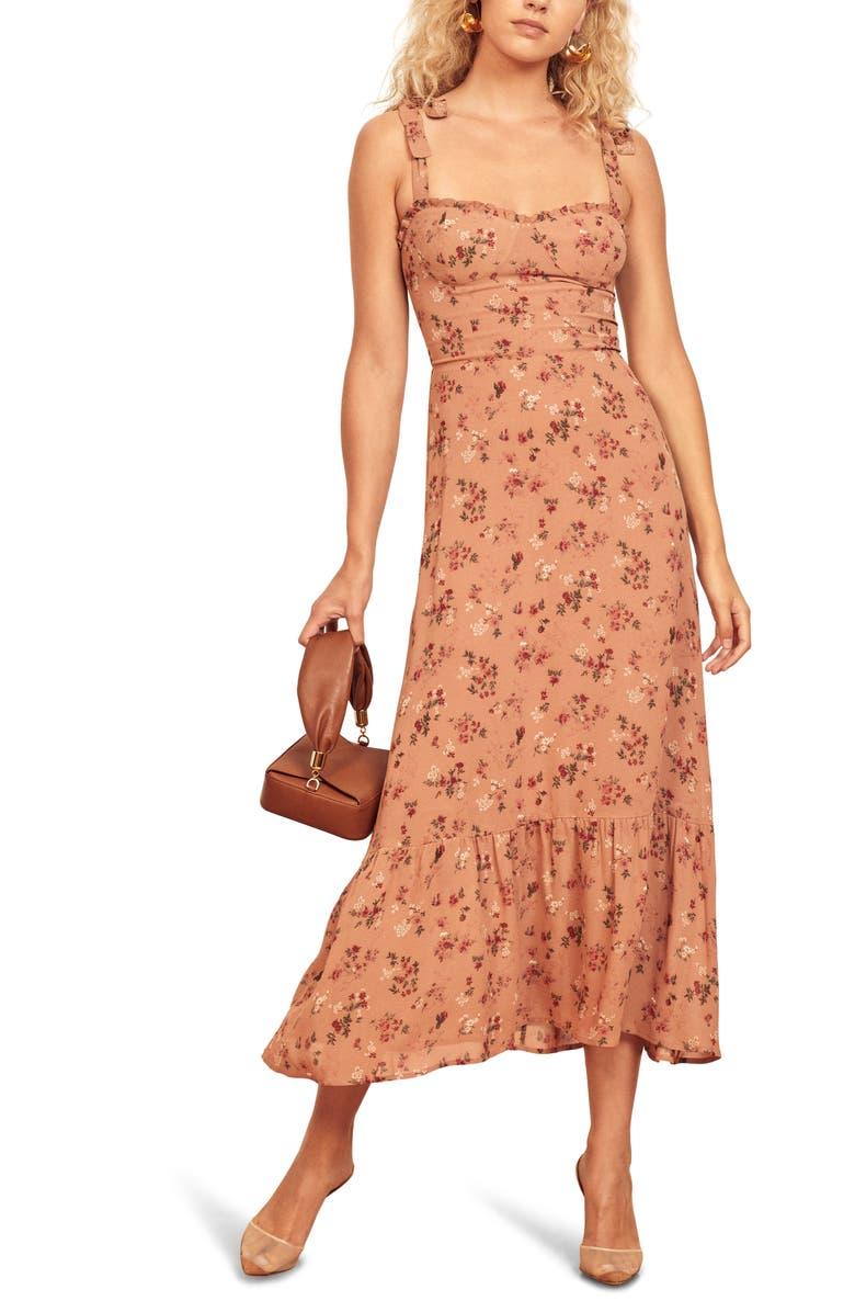 REFORMATION Nikita Midi Dress, Main, color, ARIANNE