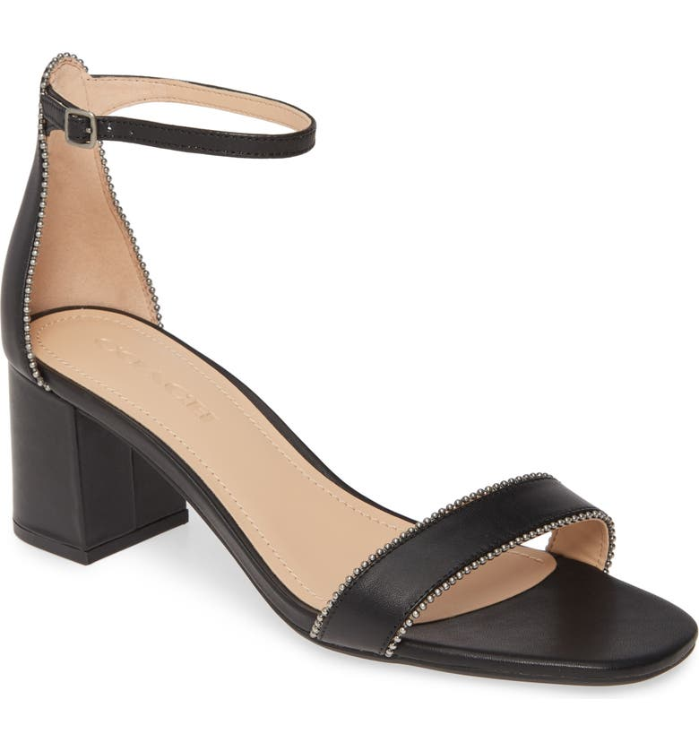 COACH Maddie Ankle Strap Sandal, Main, color, 015