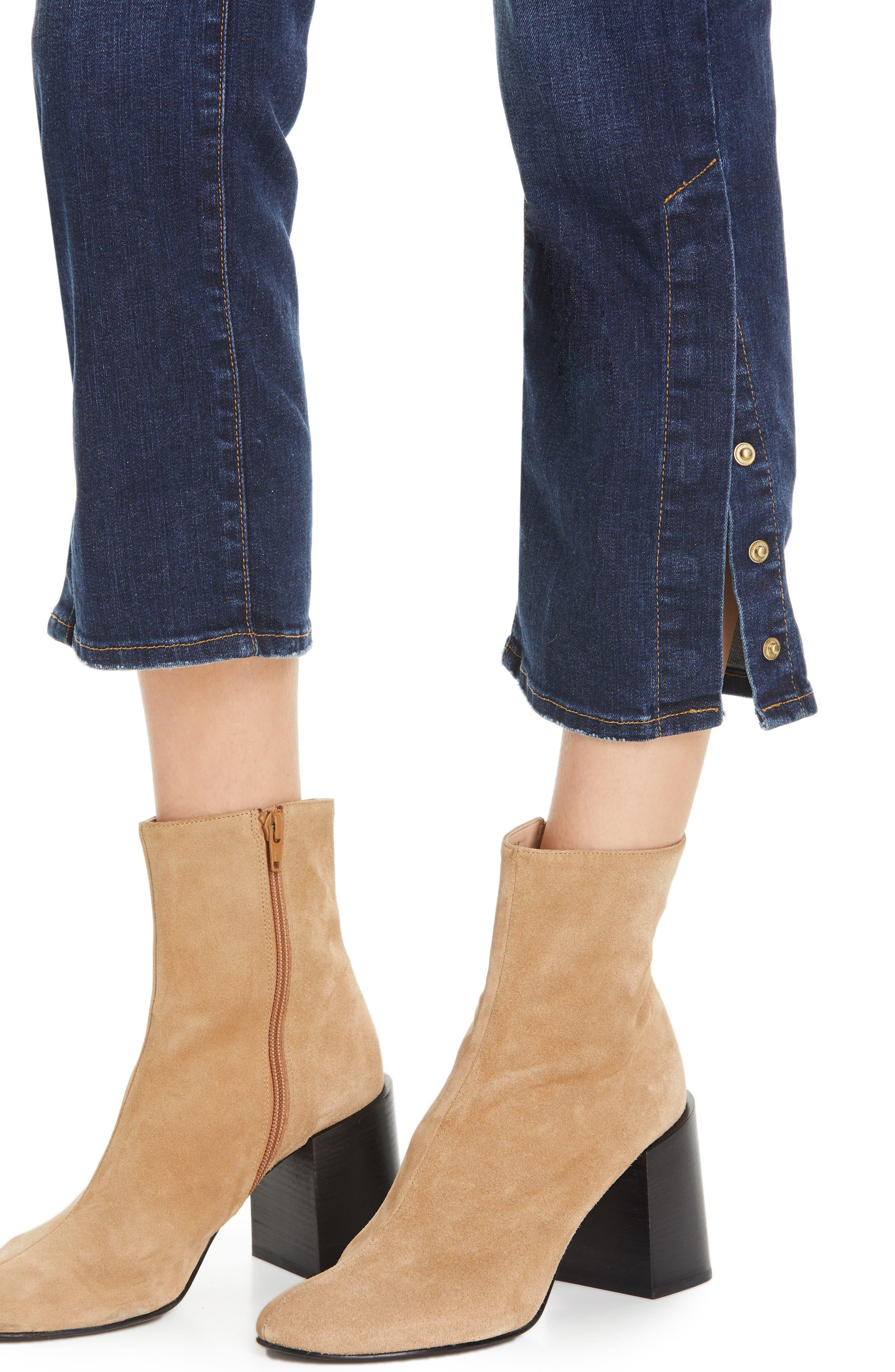 ,                             Le High Straight Snap Away Hem Jeans,                             Alternate thumbnail 5, color,                             401