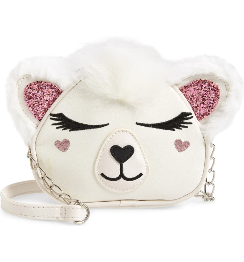 OMG Polar Bear Crossbody Bag, Main, color, WHITE