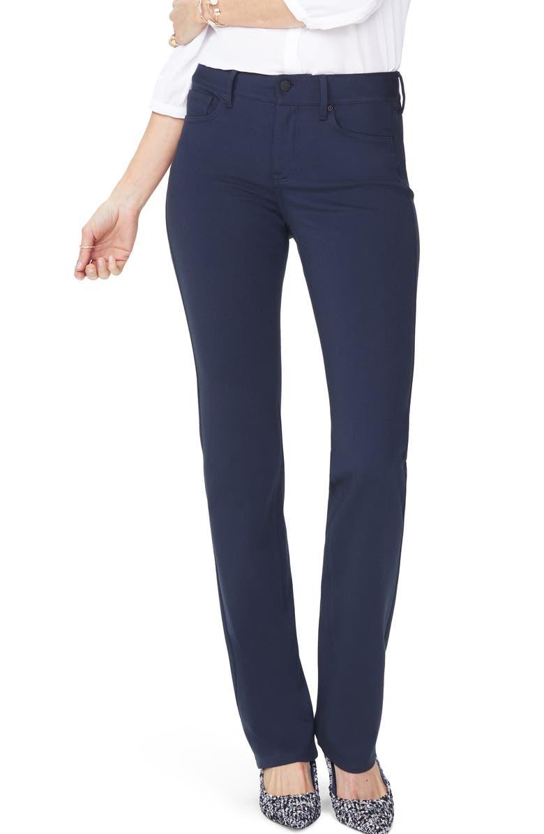 NYDJ Marilyn Straight Leg Ponte Pants, Main, color, 412