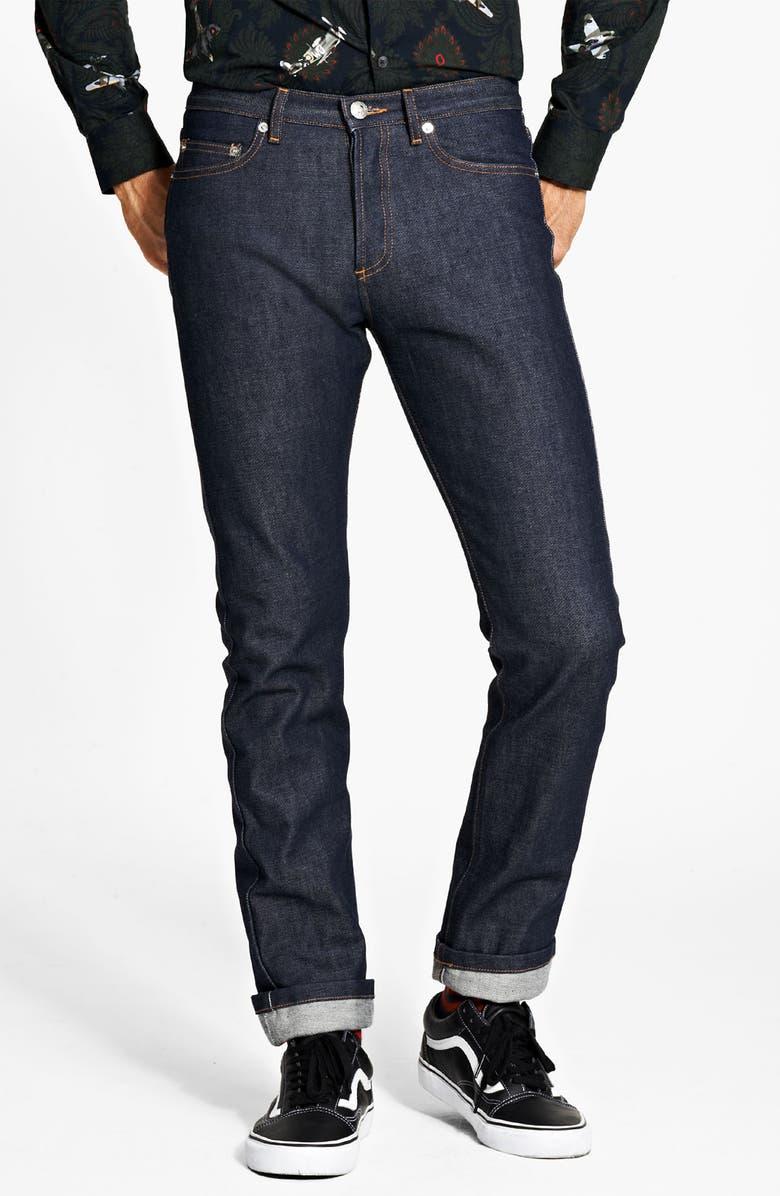 A.P.C. 'New Cure' Slim Leg Jeans, Main, color, 400