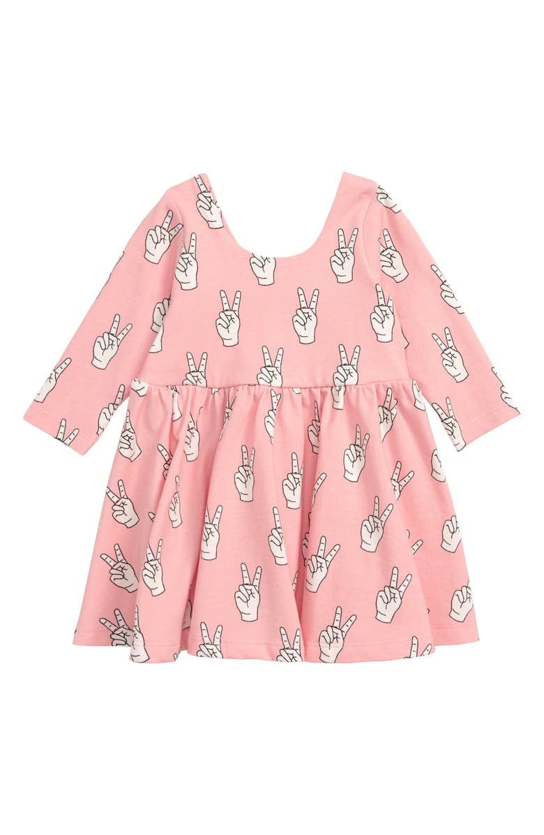 MONICA + ANDY Let's Dance Dress, Main, color, PINK PEACE OUT