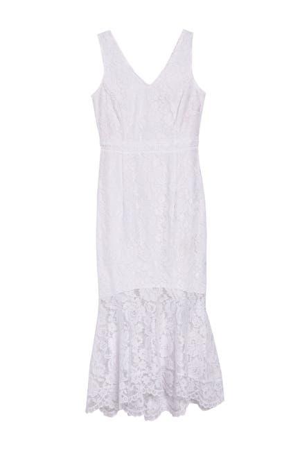 Image of NANETTE nanette lepore V-Neck Sleeveless Lace Dress
