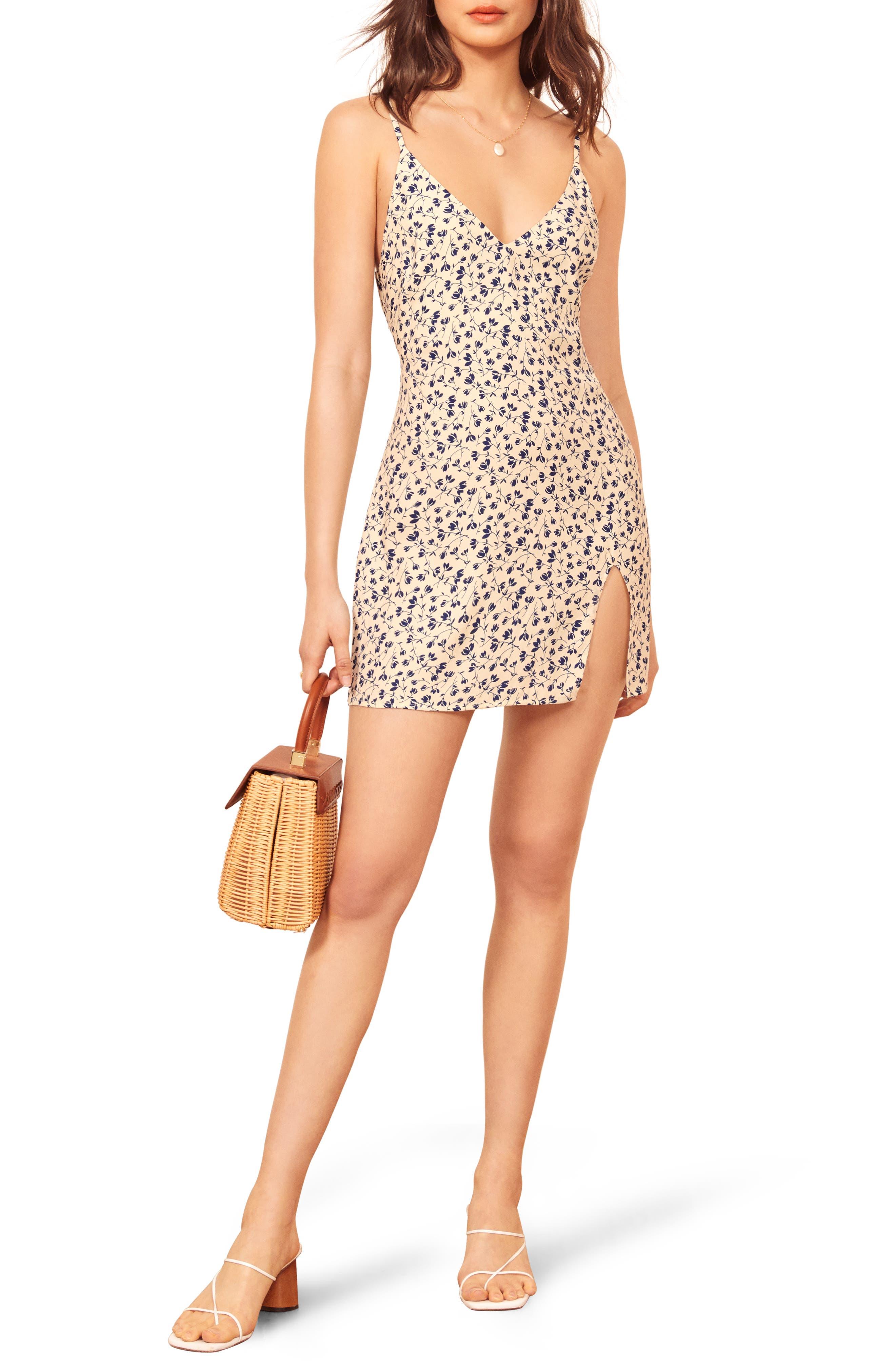 Reformation Marlowe Sleeveless Minidress, White