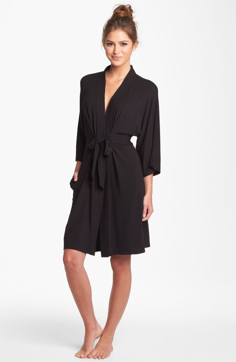 DKNY 'Urban Essentials' Robe, Main, color, 001