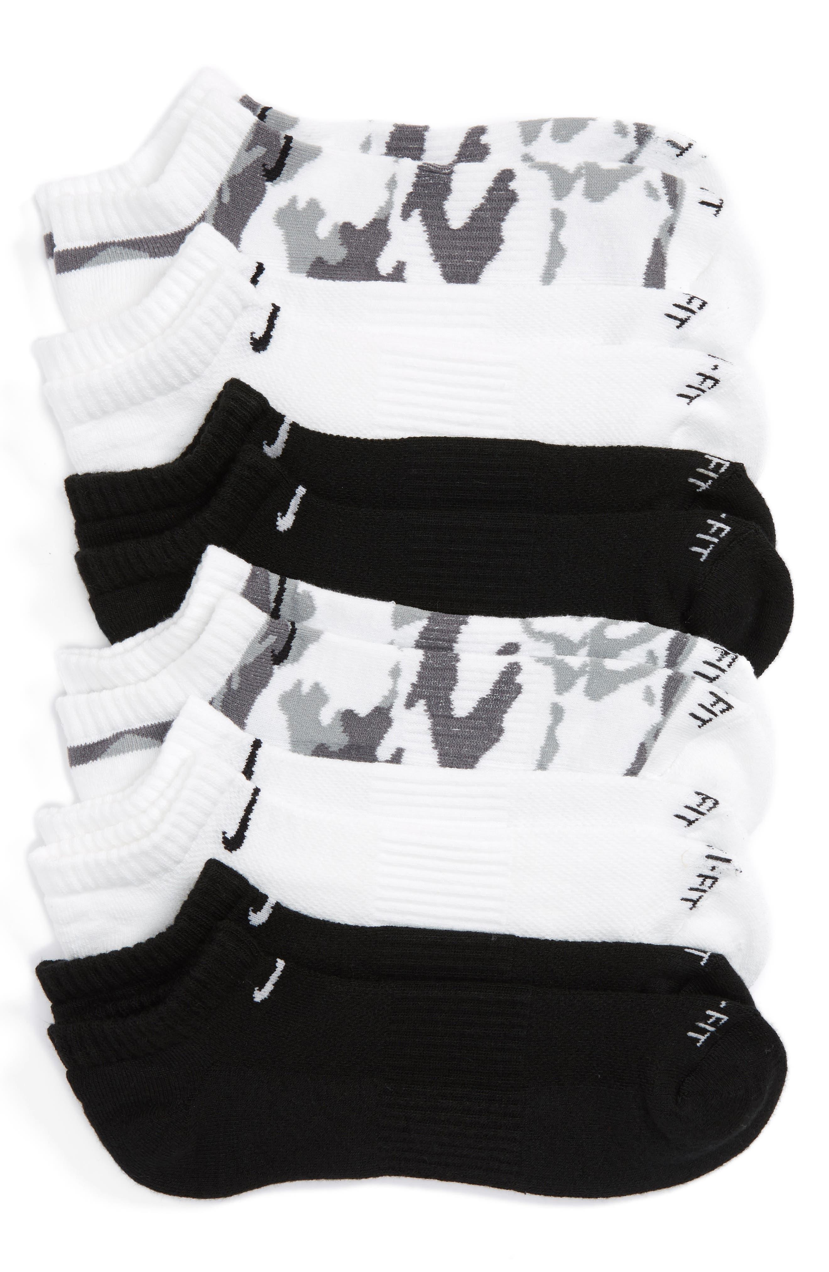 ,                             6-Pack Dri-FIT No-Show Socks,                             Main thumbnail 1, color,                             020