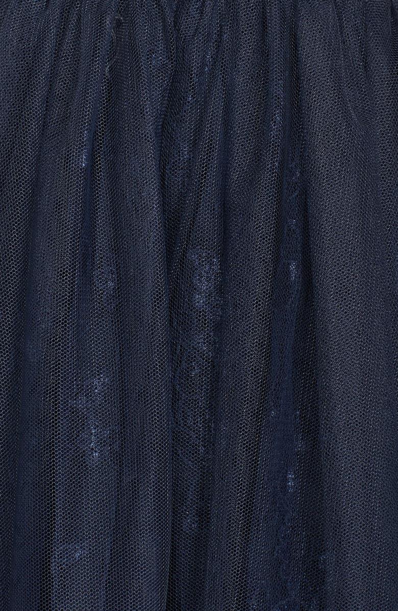 MONIQUE LHUILLIER Bridesmaids Tulle Overlay Lace Fit & Flare Dress, Main, color, 400