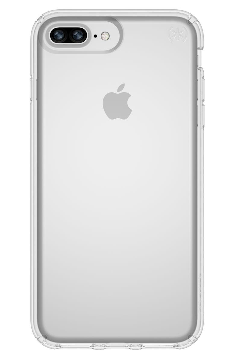 SPECK iPhone 6/6s/7/8 Plus Case, Main, color, CLEAR/ CLEAR