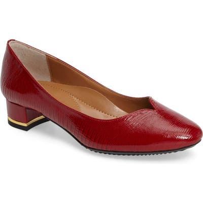 J. Renee Bambalina Block Heel Pump B - Red