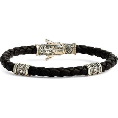 Konstantino Perseus Leather Bracelet