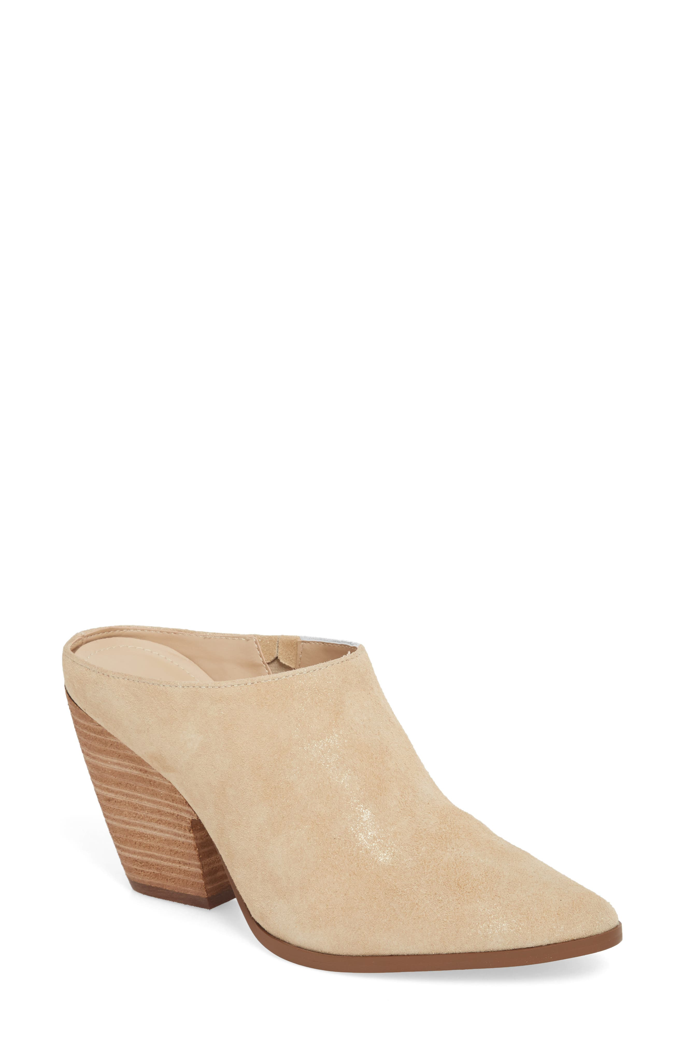,                             Nico Mule,                             Main thumbnail 1, color,                             NUDE LIGHT GOLD SUEDE