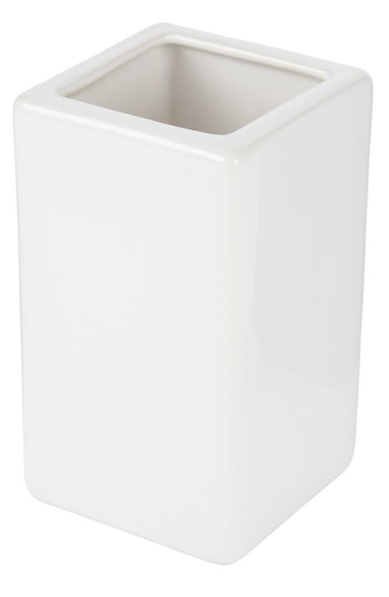 The White Company Newcombe Ceramic Toothbrush Holder In White