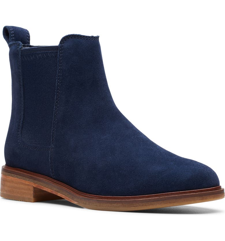CLARKS<SUP>®</SUP> Clarkdale Arlo Boot, Main, color, NAVY SUEDE