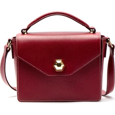 Frances Valentine Mini Midge Leather Satchel - Burgundy