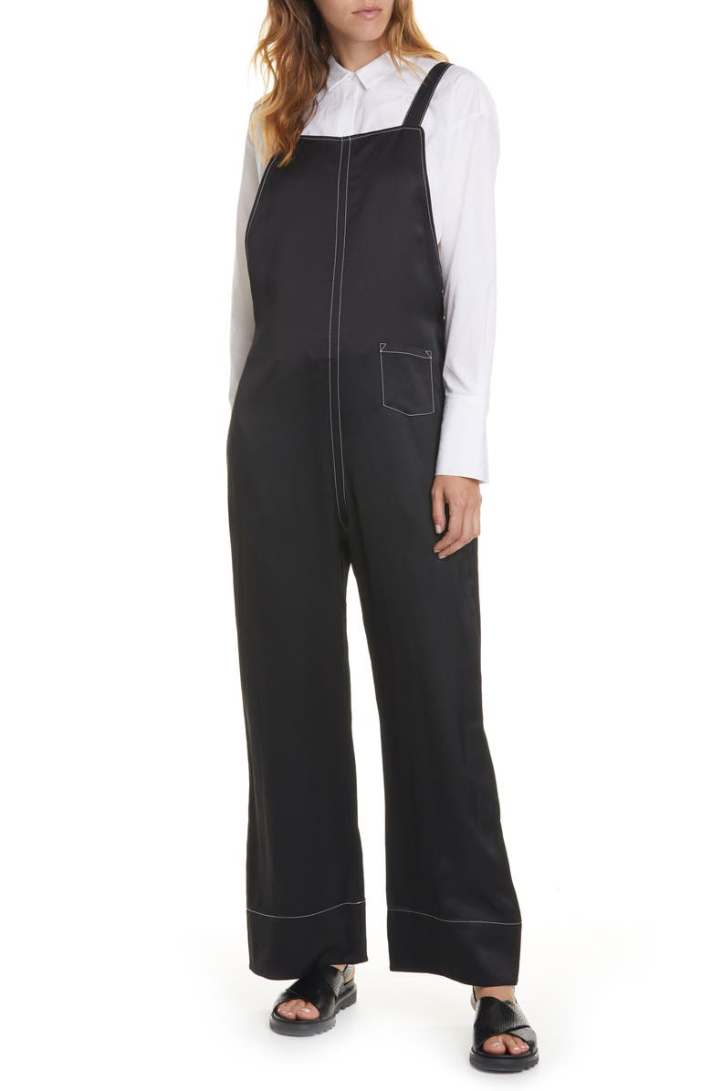 LEE MATHEWS Juliette Wide Leg Jumpsuit, Main, color, BLACK