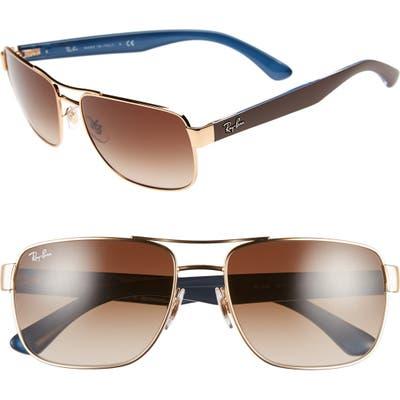Ray-Ban 5m Steel Aviator Sunglasses -