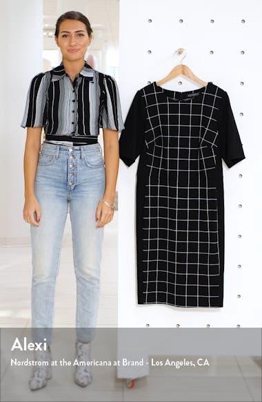 9-to-5 Windowpane Sheath Dress, sales video thumbnail