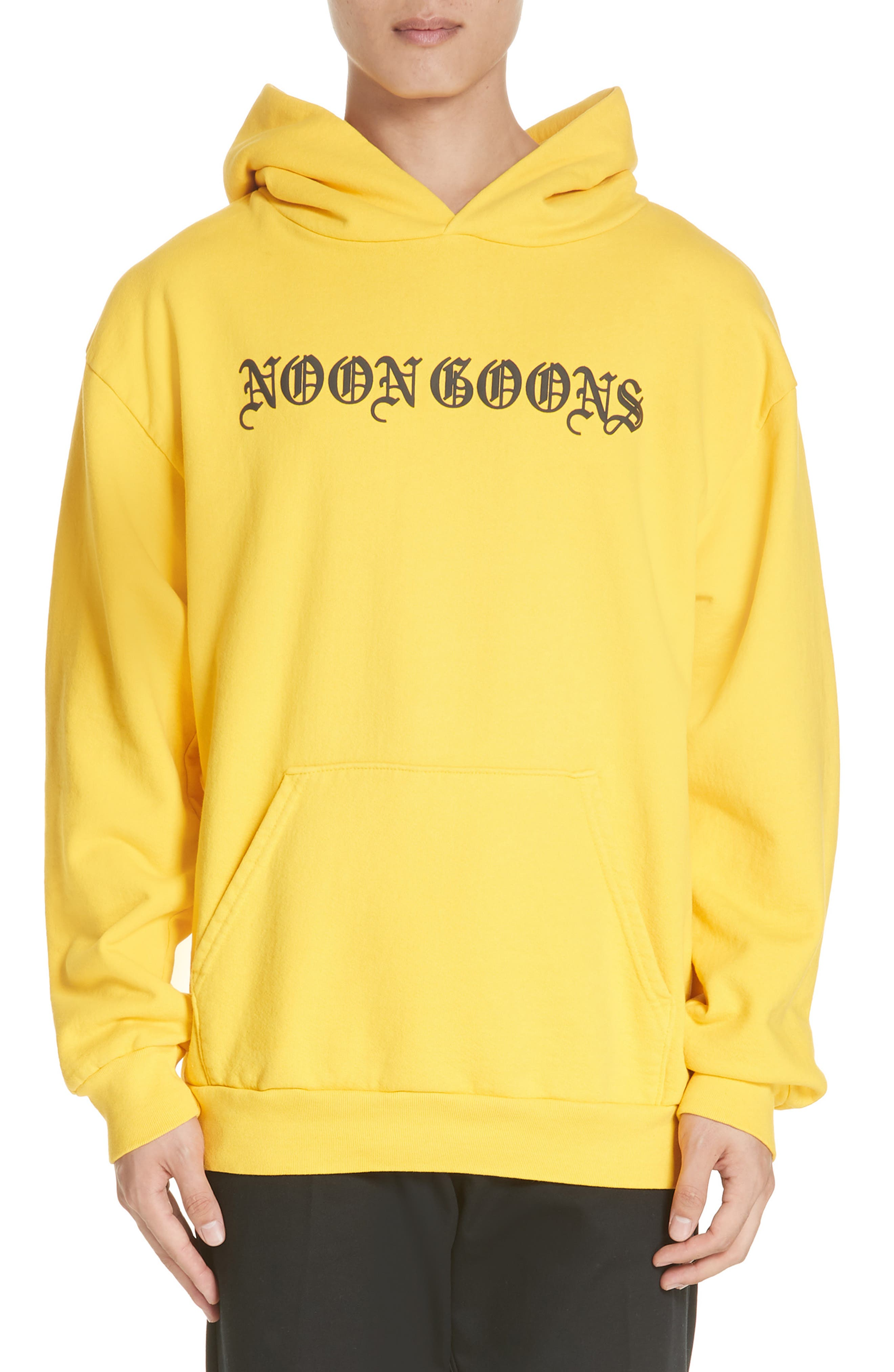Old English Graphic Hoodie, Main, color, GOLD