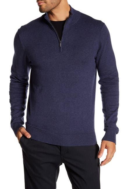 Image of WALLIN & BROS Quarter Zip Long Sleeve Sweater