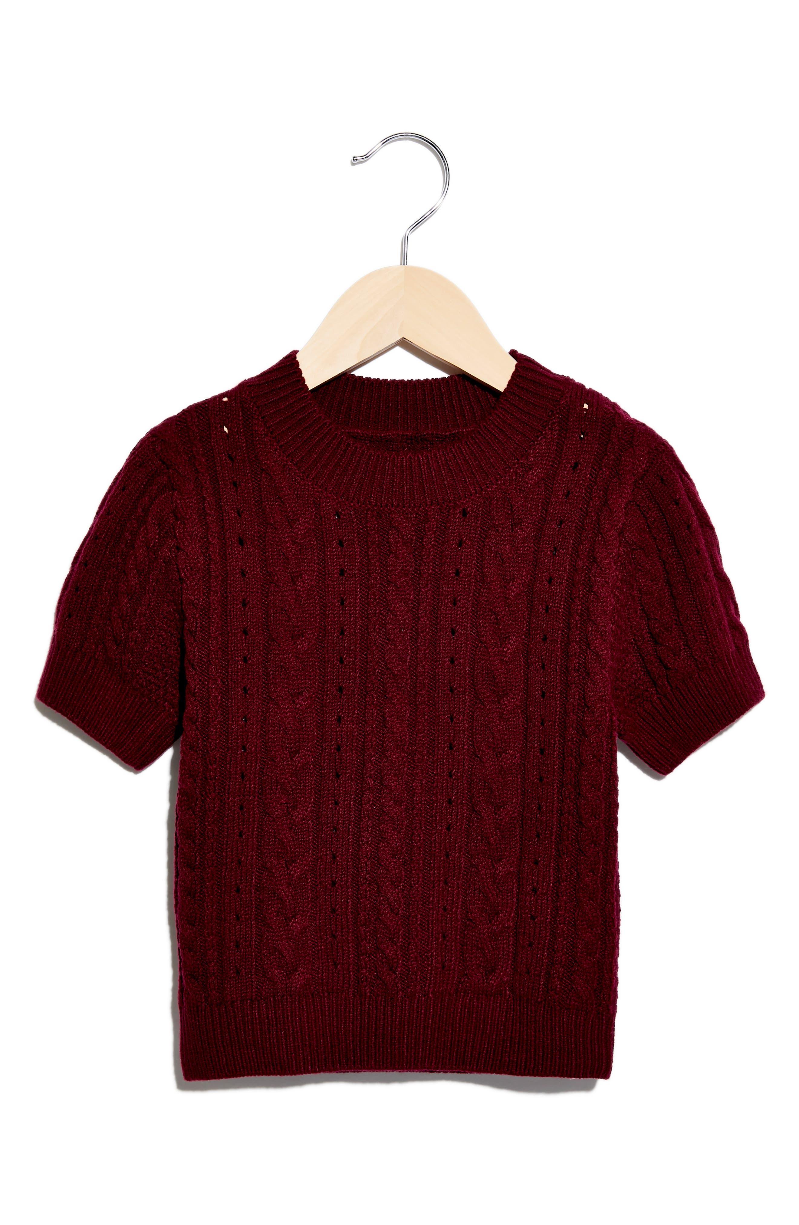 1940s Teenage Fashion: Girls Womens Free People Short  Sweet Crop Sweater Size Small - Purple $48.00 AT vintagedancer.com
