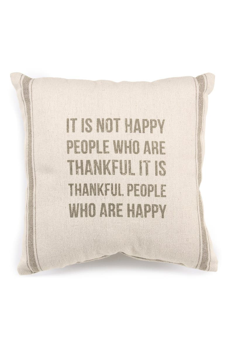PRIMITIVES BY KATHY 'Thankful People' Pillow, Main, color, 900