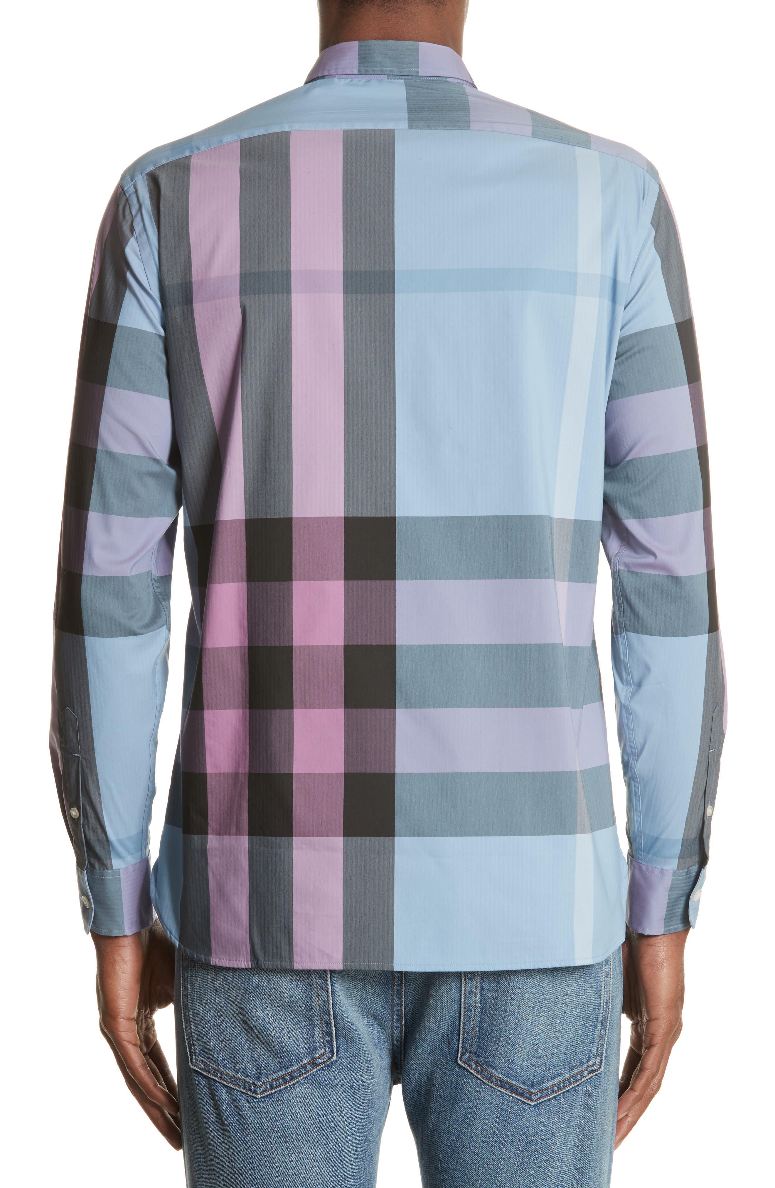 ,                             Thornaby Slim Fit Plaid Sport Shirt,                             Alternate thumbnail 14, color,                             405