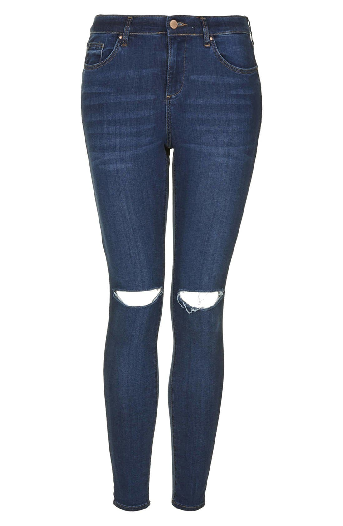 ,                             Moto 'Leigh' Vintage Ripped Jeans,                             Alternate thumbnail 4, color,                             400