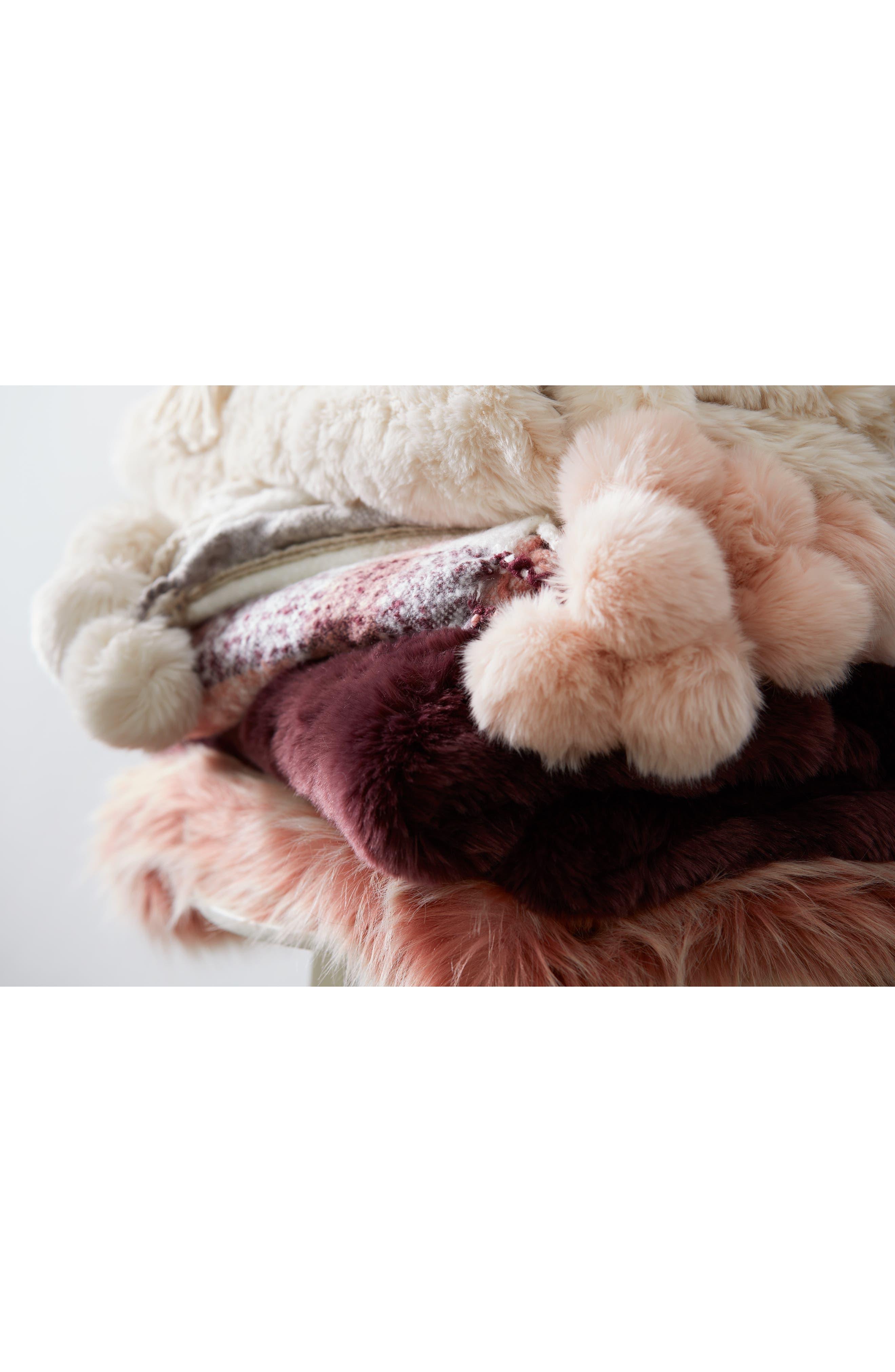 ,                             Cable Knit Tassel Throw Blanket,                             Alternate thumbnail 6, color,                             BURGUNDY STEM