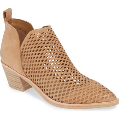 Dolce Vita Sher Perforated Bootie- Brown