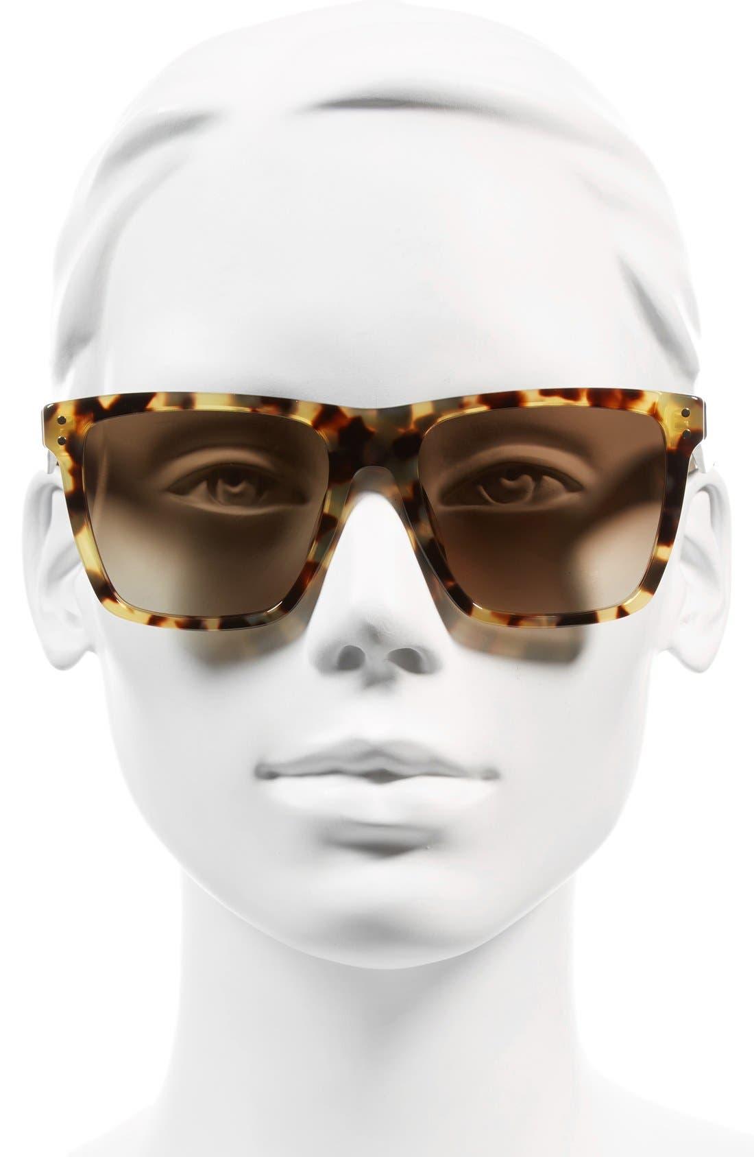 ,                             54mm Flat Top Gradient Square Frame Sunglasses,                             Alternate thumbnail 7, color,                             210