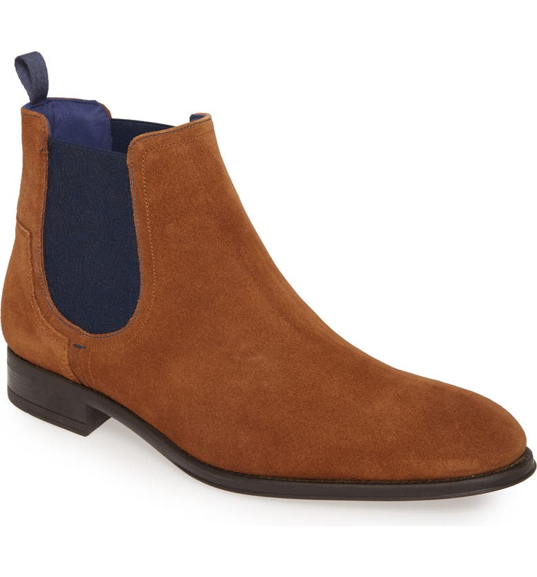 TED BAKER LONDON Tralnn Chelsea Boot, Main, color, TAN SUEDE