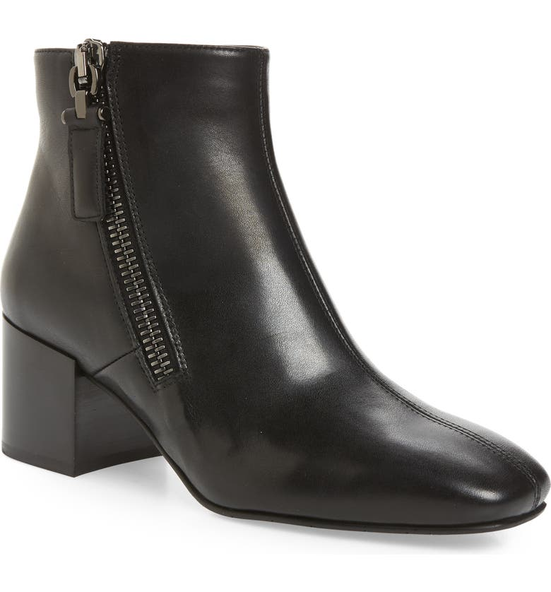 AQUATALIA Cathryn Water Resistant Bootie, Main, color, BLACK LEATHER