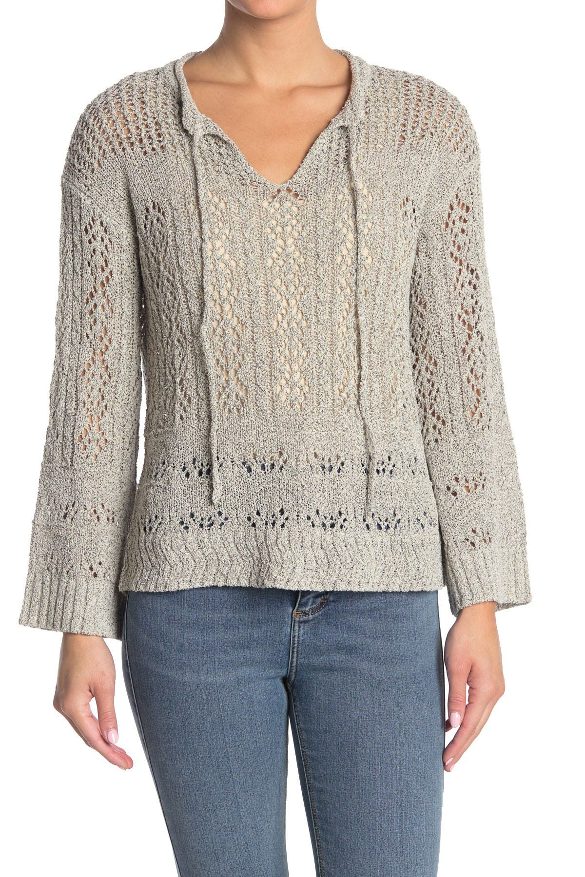Image of Lush Open Knit Pullover Top