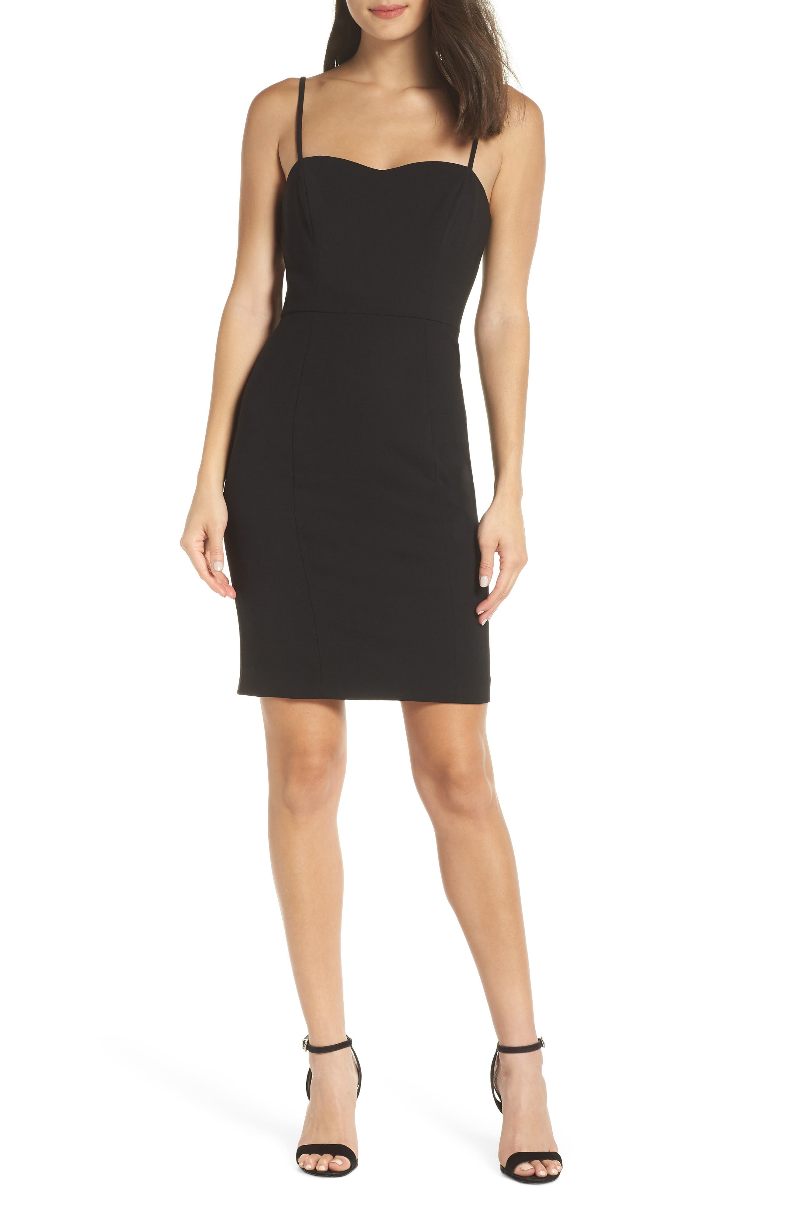 French Connection Sweetheart Lolo Sheath Dress, Black