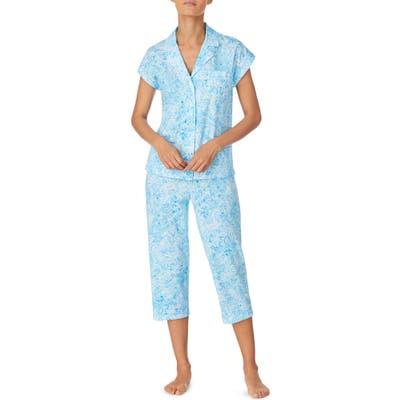 Lauren Ralph Lauren Dolman Sleeve Capri Pajamas, Blue