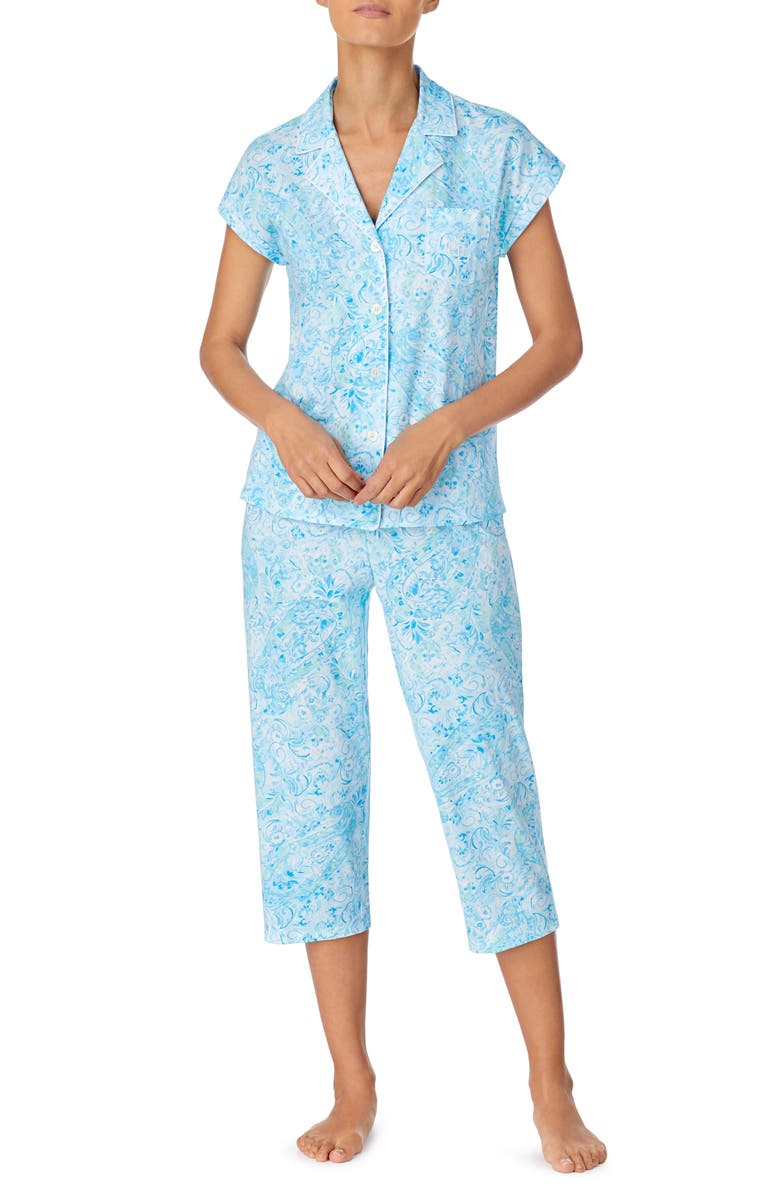 LAUREN RALPH LAUREN Dolman Sleeve Capri Pajamas, Main, color, 451
