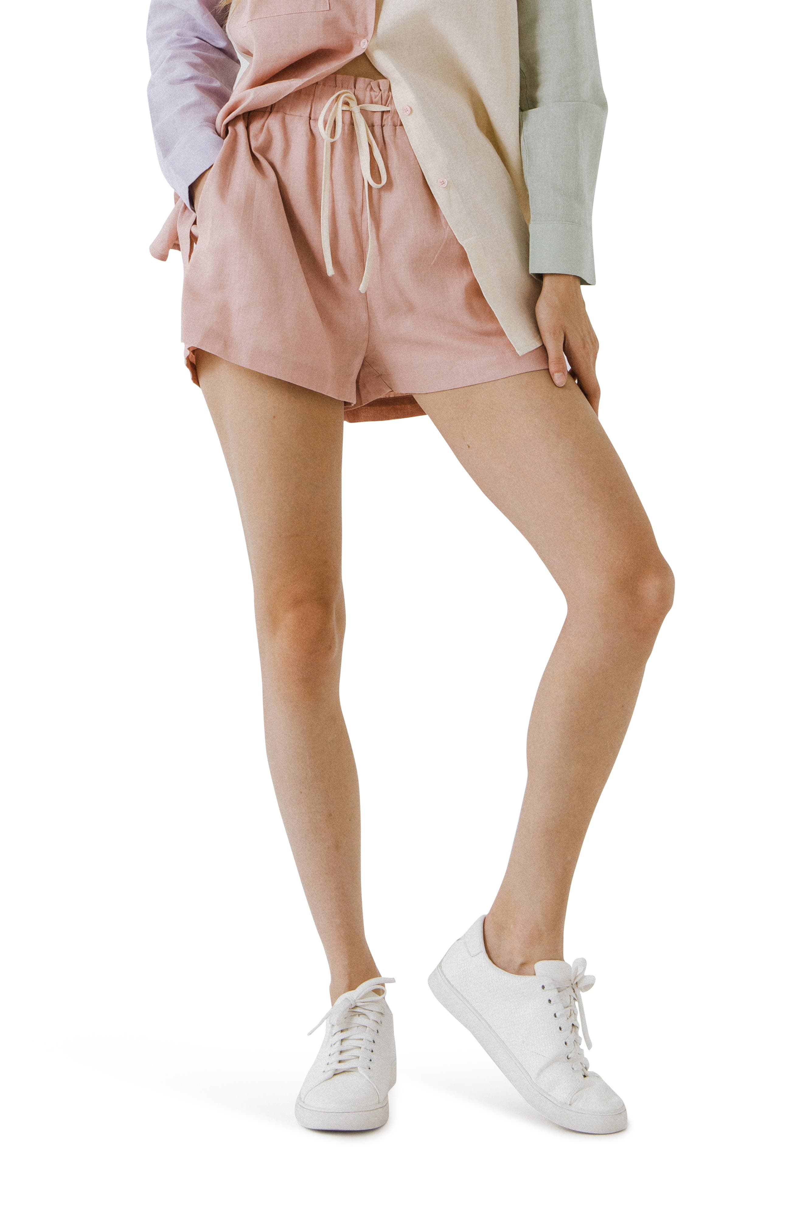 Linen & Cotton Drawstring Shorts