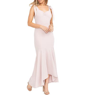 Show Me Your Mumu Barcelona Stretch Crepe Trumpet Gown, Pink