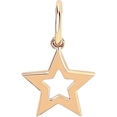 Ef Collection Gold Open Star Pendant Charm