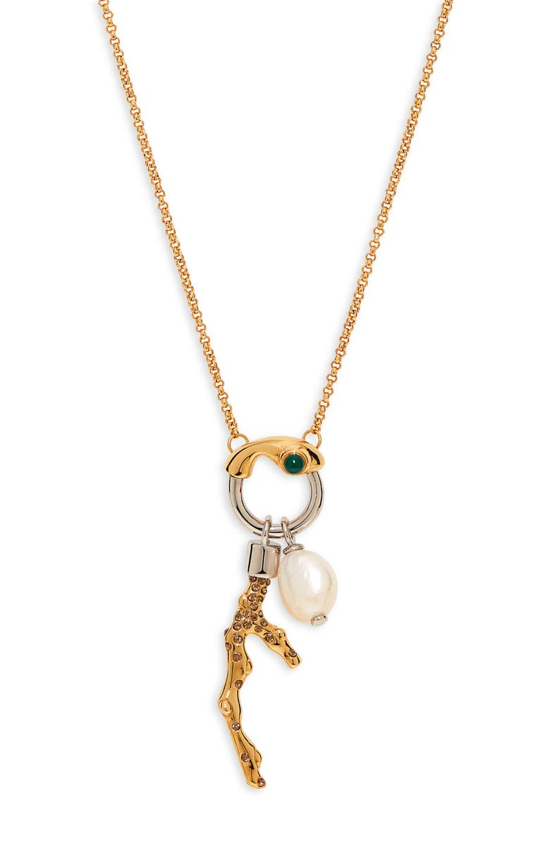 CHLOÉ Connie Pendant Necklace, Main, color, GOLD