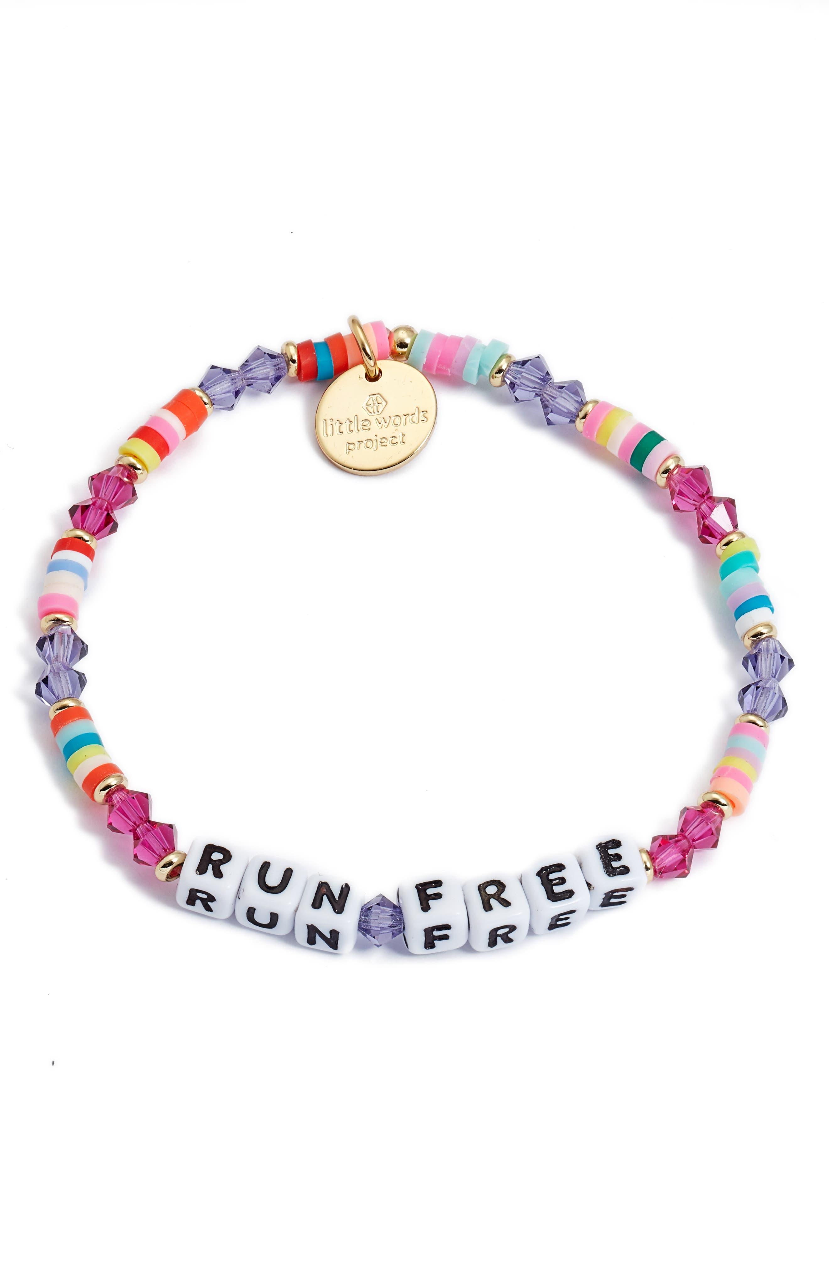 Run Free Beaded Stretch Bracelet
